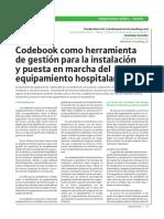 Codebook como herrameinta de Gestión para la Instalación y  Puesta en Marcha del equipamiento Hospitalario