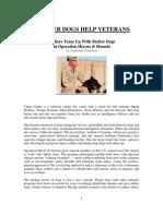 Shelter Dogs Help Veterans