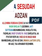 Do'a Sesudah Adzan