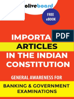Important Articles of the Indian Constitution