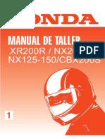 Honda Xr200 Manual de Servicio