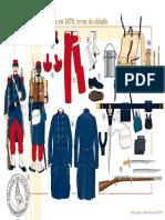 Uniformen - 262 - Le Soldat d'Infanterie en 1870, Revue de Détails, 1870-1871