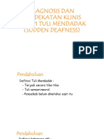 DIAGNOSIS DAN PENDEKATAN KLINIS TERAPI TULI MENDADAK (.pptx