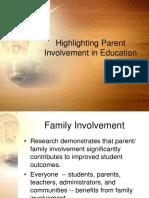 Highlighting Parent Involvement