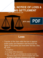 Lecture 09 Claims Settlement and Subrogation.ppt