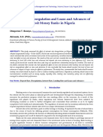 Interest Rate Deregulation and Loans and Advances of Deposit Money Banks in Nigeria