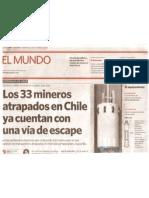 Infografia Salvataje de Los Mineros