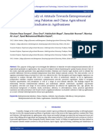 An Empirical Study of Attitude Towards Entrepreneurial Intention among Pakistan and China Agricultural Graduates in Agribusiness