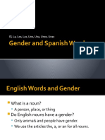 Gender and Spanish Words