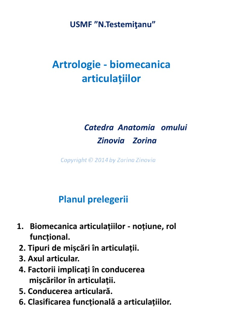biomecanica articulatiilor