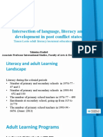Tahmina Rashid on 'Intersection of language, literacy and development in post conflict states  The Timor-Leste adult literacy/recurrent education program (Community Learning Centres)'