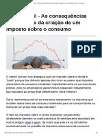 Mises Brasil - As Consequências Inesperadas Da Criação de Um Imposto Sobre o Consumo