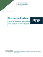 Enseignement optionnel 1ère Cinéma-audiovisuel