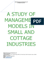 A Study of Management Models in Small and Cottage Industries [www.writekraft.com]
