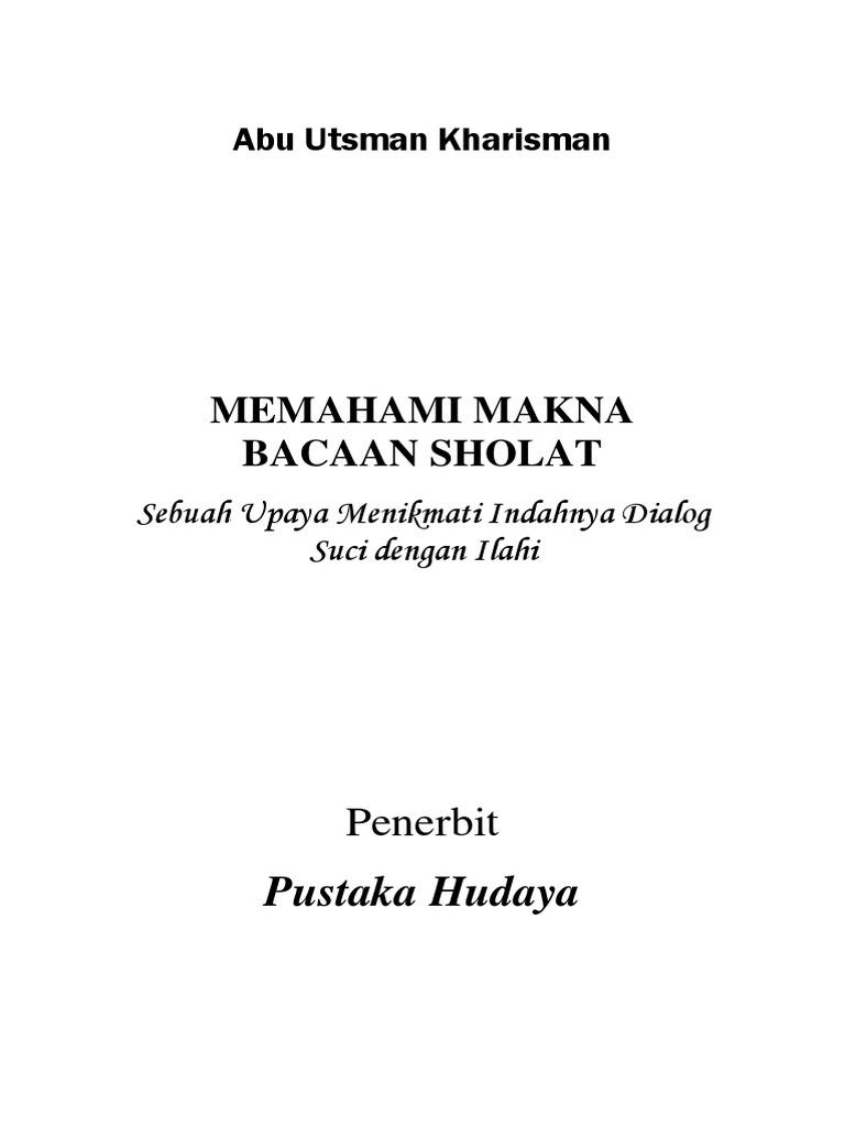 Buku Memahami Makna Bacaan Sholat Ed 1 0pdf