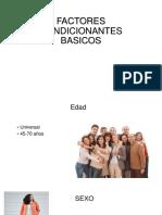 FACTORES CONDICIONANTES BASICOS