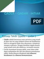 Qadla Qadar Dan Ihtiar