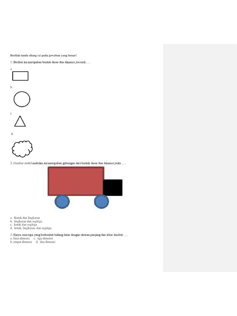 Soal Sbk Kelas 3 Sem 1