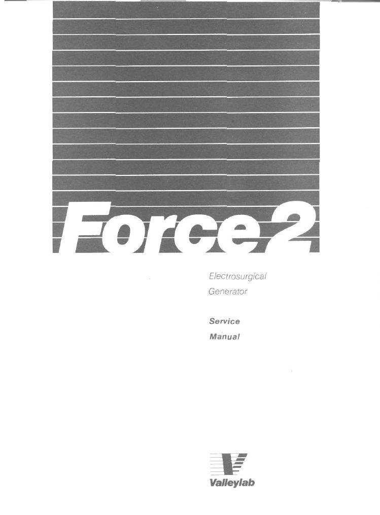 Valleylab Force 2 Service Manual Pdf Download