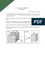 CAD/CAM Assignment