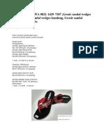 Termurah , TLP/WA 0822–1429–7187 ,Grosir sandal wedges murah, Grosir sandal wedges bandung, Grosir sandal wedges murah cibaduyut