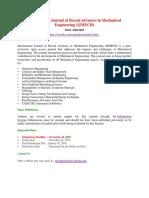 International Journal of Recent Advances in Mechanical Engineering