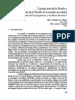 Obiols y Agratti Concepciones de La Filosofa y Enseñanza de La Filosofia en La Escuela Secndaria