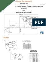 Narrow Flange Profile AAR 1-B