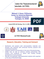 Alabama Center for Nanostructured Materials (ACNM)