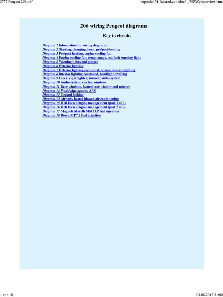 3757 Peugeot 206pdf 206 Central Locking Wiring Diagram