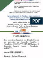 Conferencia técnica de  Hector Peralta Corona