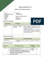SESION de APRENDIZAJE Producción Comunicación. 1ro y 2º