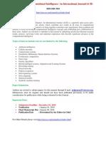 Advanced Computational Intelligence an International Journal ACII