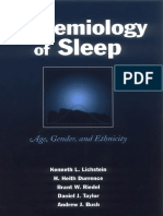 Epidemiology of Sleep Age_ Gender_ and Ethnicity
