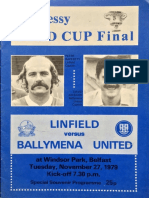 Linfield v Ballymena Utd - Hennessy Gold Cup Final - 28.11.1979