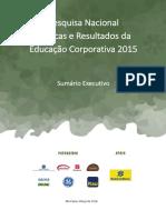 2015_Sumário Excecutivo_3ª Pesquisa Nacional de Educação Corporativa 2015