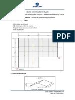 Memória de Cálculo de Instalações Pluviais - Calha