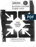 The Paper Test for TOEFL Test