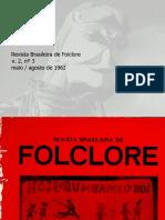 Revista Brasileira de folclore N°03 - Maio a Agosto de 1962