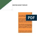 2) Product Marketing Budget Template.xlsx