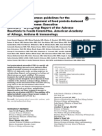 AAAAI April 2017 Guidelines FPIES Diagnosis Management