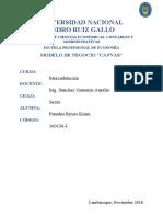 Modelo de Negocio Canvas| UNPRG
