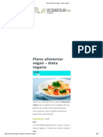Plano Alimentar Vegan - Dieta Vegana