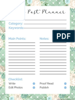 2018 Blog Post Planner Page