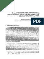 Antônio Augusto Cançado Trindade - Balanço dos resultados da Conferência Mundial De Direitos Humanos de Viena 1993.pdf
