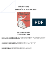 Planif Ciudad y Part 1° Prof Martínez