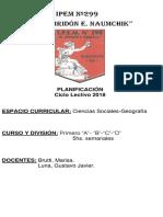Planif Geografía 1° A,B,C Y D Prof Brutti Luna
