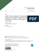 Multi-Criteria Approach Using Simulation-Based Balanced Scorecard