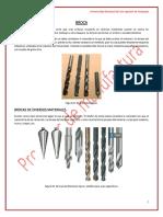 TAREA 03. Materiales de Tipos de Broca