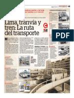 Lima, Tranvía y Tren, La Ruta Del Transporte